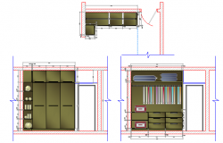Closet plan and elevation dwg file