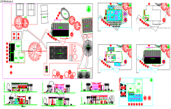 Club House Architectural design in Autocad file