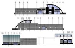 Club House Building Elevation DWG