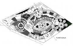 Club House CAD Drawing