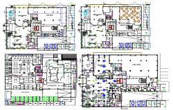 Club House Floor Plan CAD File