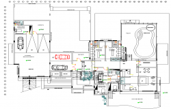 Club House plan dwg file