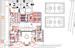 Club house architecture layout plan dwg file
