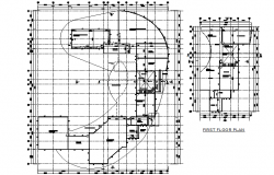 Club planning detail dwg file