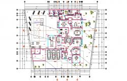 Clubhouse Design With Furniture Layout AutoCAD File