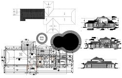 Clubhouse Plan AutoCAD Drawing