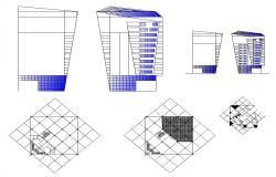 Co-operative high riser building structure detail CAD block layout file in dwg format