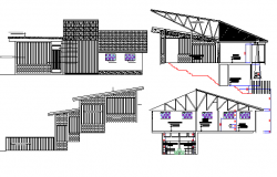 Coffee Processing Plant Section and Elevation Details dwg file