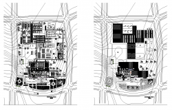 Coffee industrial factory detail plan dwg file