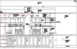 Coffee plant sectional view dwg file