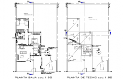 Cold water installation-hot plan autocad file