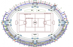 Coliseum Architecture Layout and Structure Design dwg file
