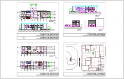 Collage plan and elevation dwg file
