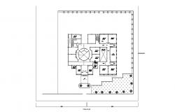 College Building Architecture Design AutoCAD Drawing