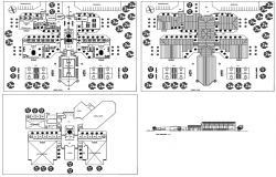 College Building Plan CAD File