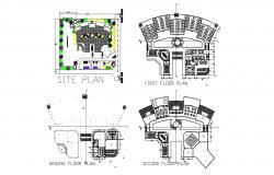 College Floor Plan AutoCAD File