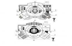 College Institute detail plan 2d view layout autocad file
