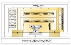 College Parking Layout Plan DWG File