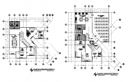 College building detail Structure 2d view layout autocad file