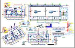 College building plan detail view and electric plan layout detail view dwg file