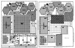 College campus design in dwg file