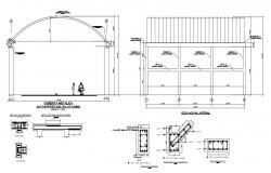 College elevation in autocad