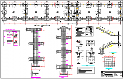 College plan design view dwg file