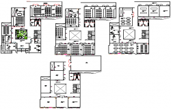 College university structure detail plan view dwg file