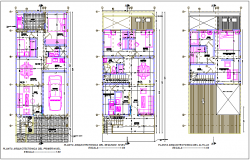 Columbia family housing floor plan dwg file