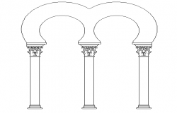 Column Arch Elevation dwg file