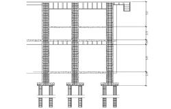 Column Construction CAD Drawing