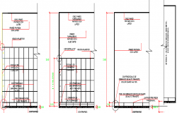 Column Detailed Finishes of General Hospital dwg file