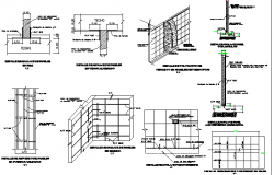 Column Detailed Finishes of Three Flooring Housing Project dwg file