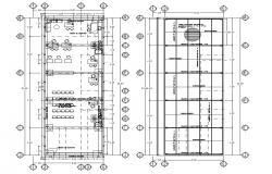 Column Floor Plan CAD drawing Download
