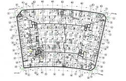 Column Foundation Plan Of Commercial Building AutoCAD File