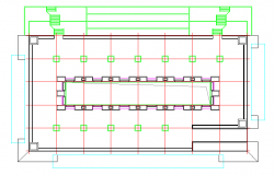 Column Lay-out Detail in cad File