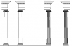Column and Capital detail dwg file
