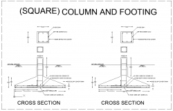 Column and Footing Detail dwg file