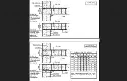 Column and beam construction details of house building dwg file