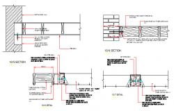 Column and beam construction details of one family house dwg file