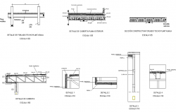Column and beam section dwg file