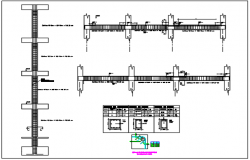 Column and beam section plan detail dwg file