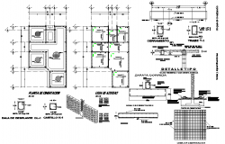 Column and beam section plan layout file