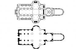 Column church plan detail dwg file