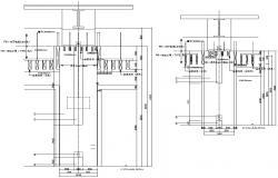 Column design Cross section CAD file