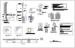 Column detail view of maternity and pediatric center dwg file