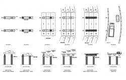 Column elevation, connection, plan and auto-cad details dwg file