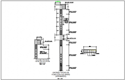 Column elevation and section detail dwg file