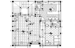 Column numbering plan detail dwg file