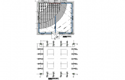 Column plan detail dwg file